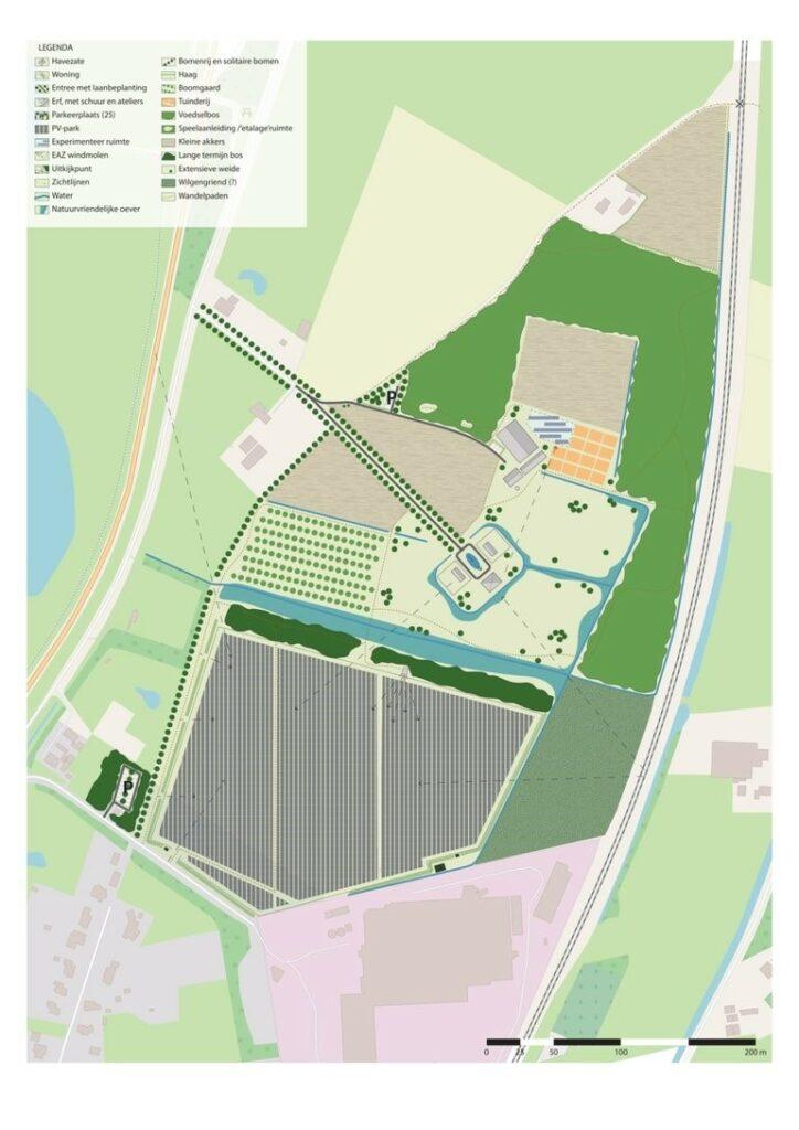 Plattegrond Energietuin Noordmanshoek